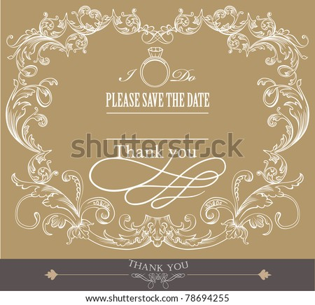 card cover design- wedding invitation card - stock vector