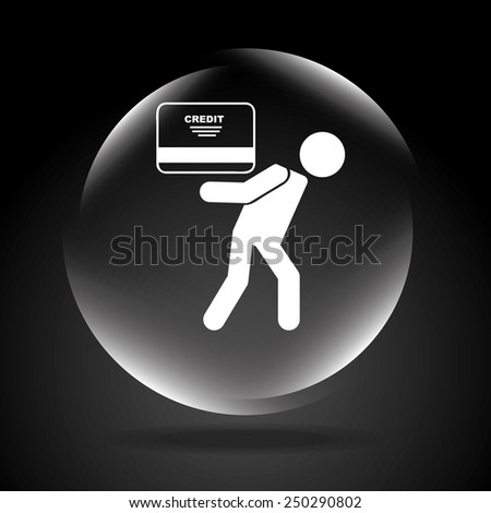 card credit design, vector illustration eps10 graphic  - stock vector