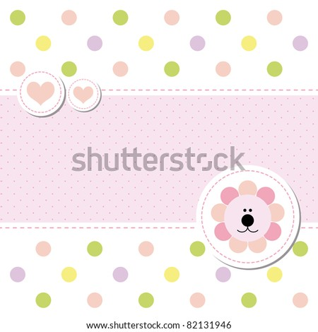 card design baby arrival announcement card - stock vector