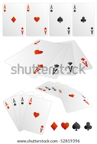 card design elements - stock vector