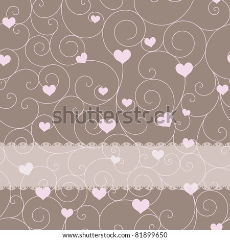 card design for wedding or valentine's day - stock vector