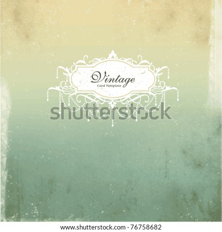 card design with vintage background - stock vector