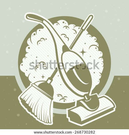 card for general cleaning - stock vector