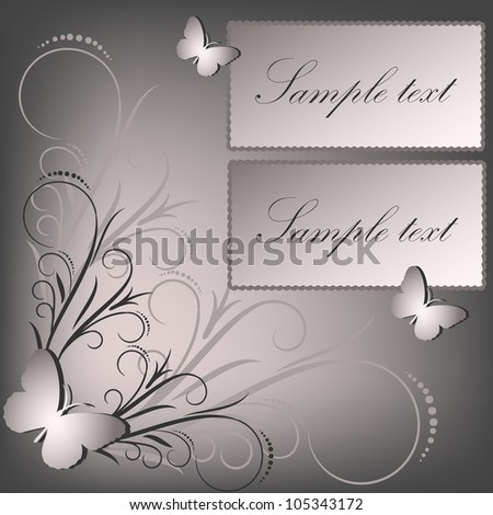 Card for greeting or invitation on the vintage background. Vector greeting card - stock vector