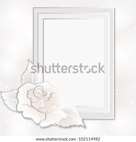 Card for greeting or invitation on the vintage background.  Wedding card or invitation with abstract floral background. Greeting card in grunge or retro style. - stock vector