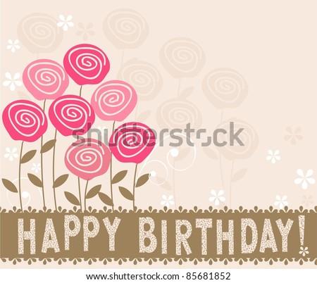 card happy birthday - stock vector