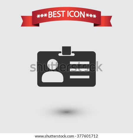 Card id icon vector - stock vector