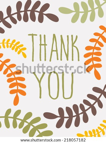 Card on Thanksgiving Day. - stock vector