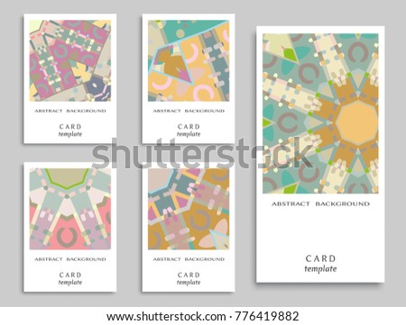 Card invitation vector abstract geometric background stock vector card or invitation vector abstract geometric background set art template design for cover stopboris Image collections