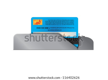Card Terminal - stock vector