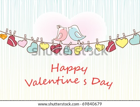 card valentine's day - stock vector