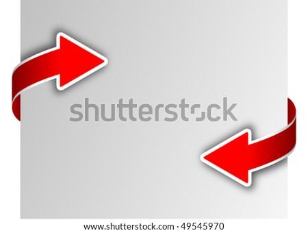 card with arrow - stock vector