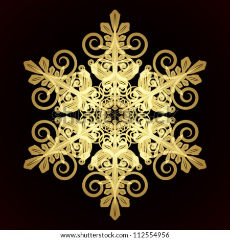 Card with christmas snowflake, vector illustration - stock vector