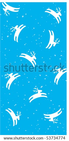 card with deers