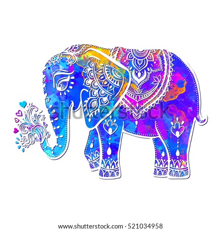 Card Elephant Frame Animal Made Vector Stock Vector 521034958 ...