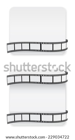 card with film strip design - stock vector