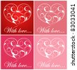 Card with heart - stock vector