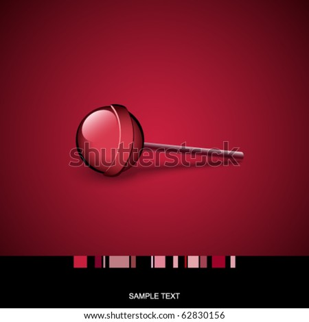 Card with lollipop - stock vector
