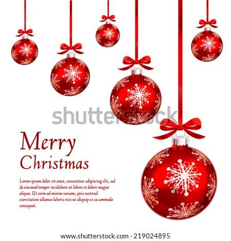 card red christmas ornaments vector illustration stock vector rh shutterstock com christmas ornament vector outline christmas ornament vector clipart