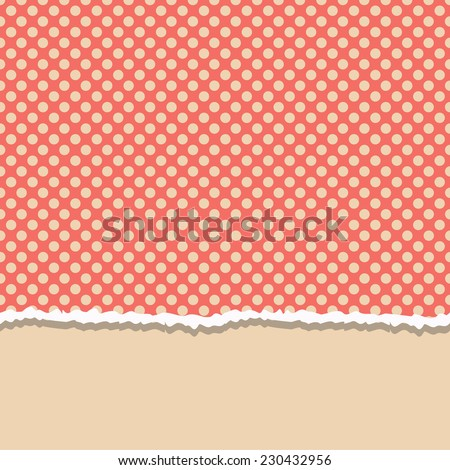 card with retro seamless  polka dots pattern