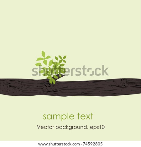 Card with stylized vector tree . EPS10 - stock vector