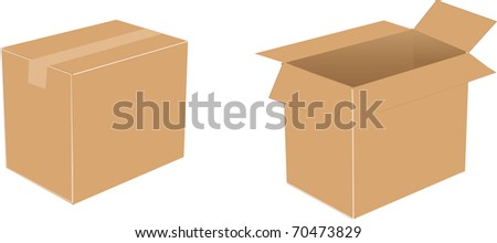 Cardboard boxes vector illustration - stock vector