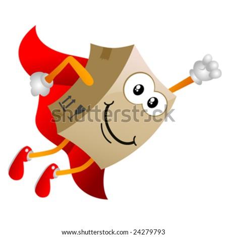 cardboard cartoon character vector 4 - stock vector