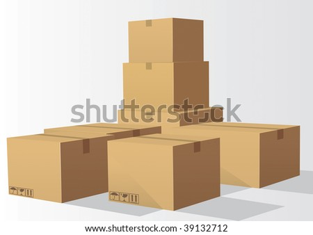 Cardboard Drawing - stock vector