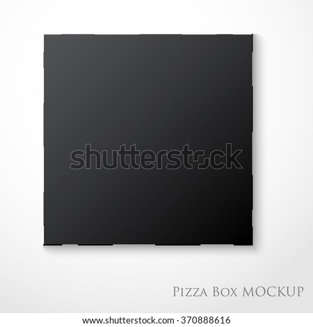 Cardboard empty pizza box mock up template package - stock vector