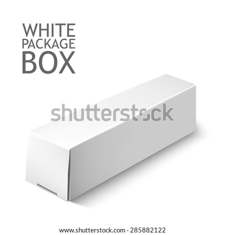 Cardboard Package Box. Set Of White Package Square For Software, DVD, Electronic Device And Other Products.  Mock Up Template Ready For Your Design.  Vector Illustration  Isolated On White Background. - stock vector