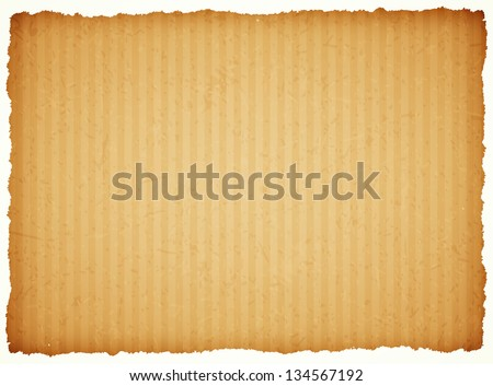 cardboard paper frame with torn edges - stock vector