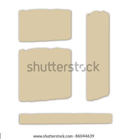 Cardboard pieces, eps10 vector - stock vector