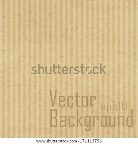 Cardboard texture. Vector texture. - stock vector