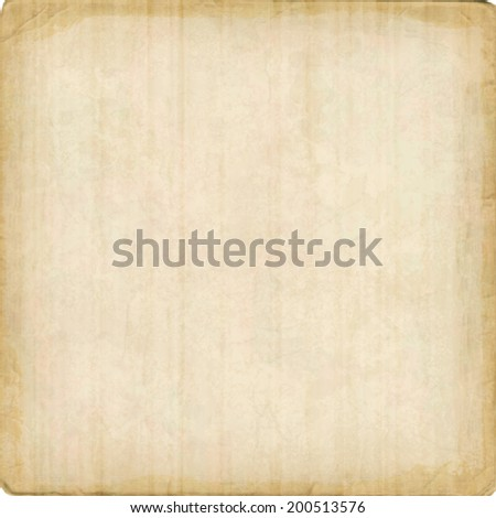 Cardboard vector texture background with ragged edges. Old paper sheet - stock vector