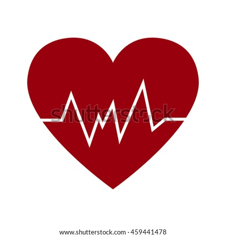 Cardio Heart Icon Vector Flat Sign Stock Vector 2018 459441478