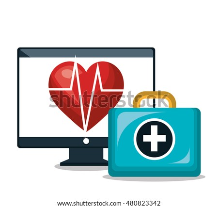cardiology digital healthcare medical isolated