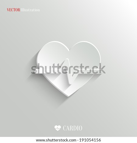 Cardiology icon - vector web illustration, easy paste to any background - stock vector