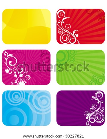 Cards Background - stock vector