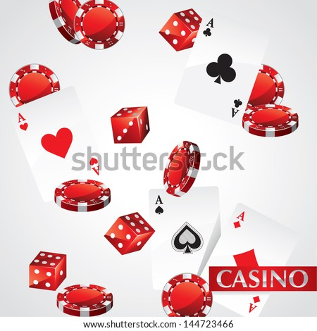 Cards Chips Casino Poker - stock vector