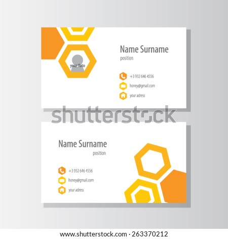 cards for beekeepers. Honey. - stock vector