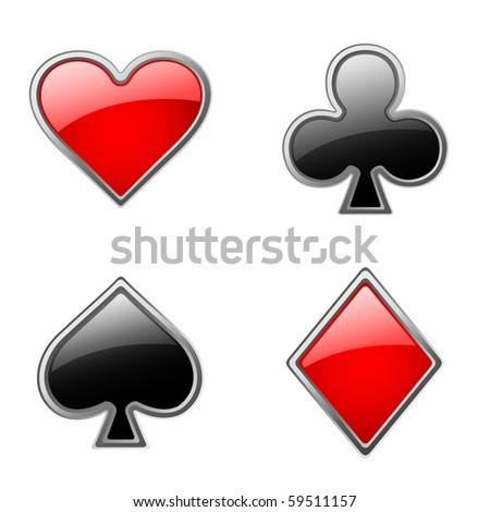 cards' suits - stock vector