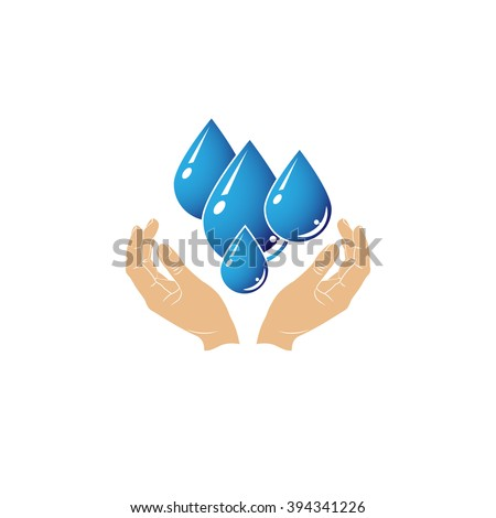 care of water , vector, icon  - stock vector