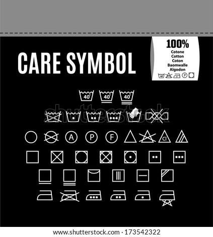 Care symbol icon set. - stock vector