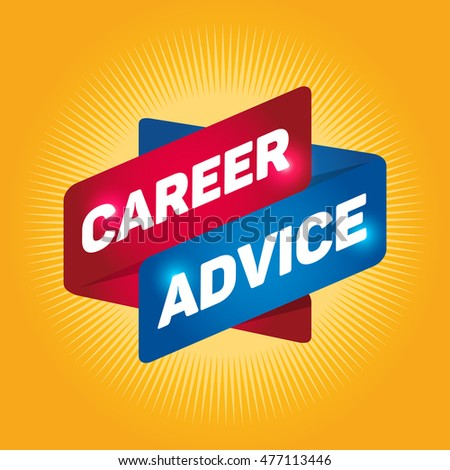 CAREER ADVICE arrow tag sign.