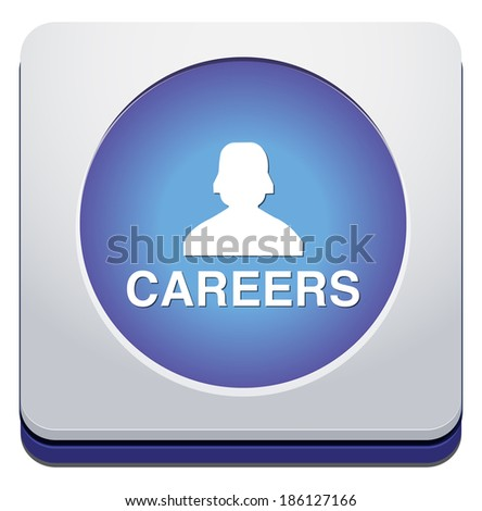 Career button - stock vector