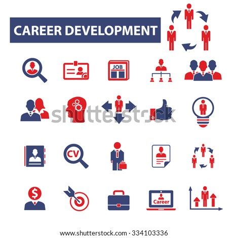 career development icons, signs vector concept set for infographics, mobile, website - stock vector