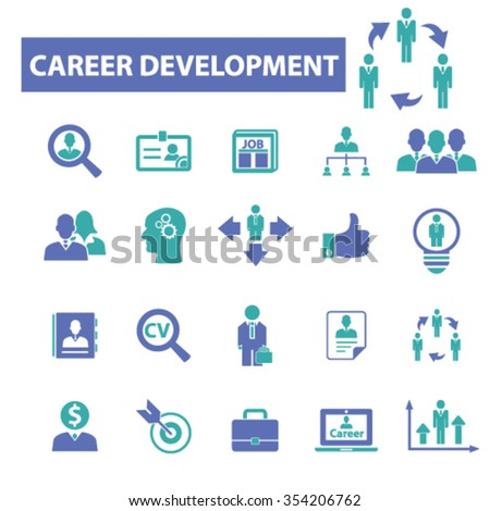 career development  icons, signs vector concept set for infographics, mobile, website, application  - stock vector