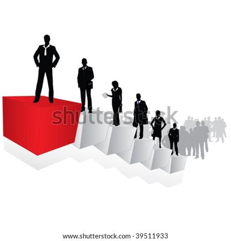 Career ladder -  conceptual vector - stock vector