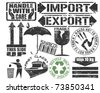 Cargo Stamps Set - stock vector