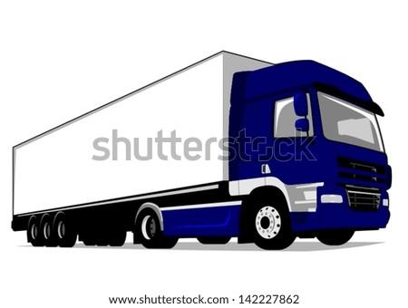 Cargo Truck - stock vector
